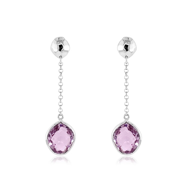 PANORAMA Earrings - Pink Amethyst / SS
