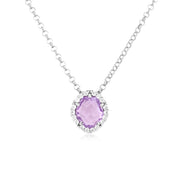 PANORAMA Necklace - Pink Amethyst / SS