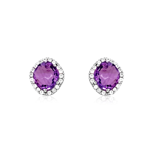 PANORAMA Earrings - Amethyst / SS