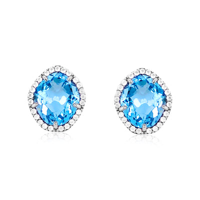 PANORAMA Earrings - Blue Topaz / SS