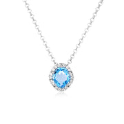 PANORAMA Necklace - Blue Topaz / SS