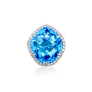 PANORAMA Ring - Blue Topaz / SS