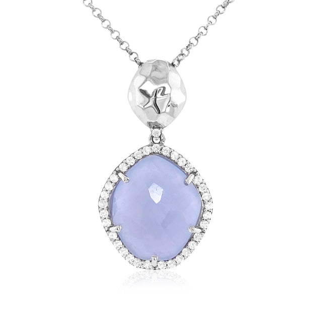 PANORAMA Necklace - Blue Chalcedony / SS