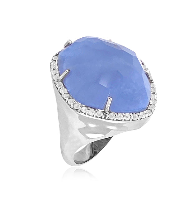 PANORAMA Ring - Blue Chalcedony / SS