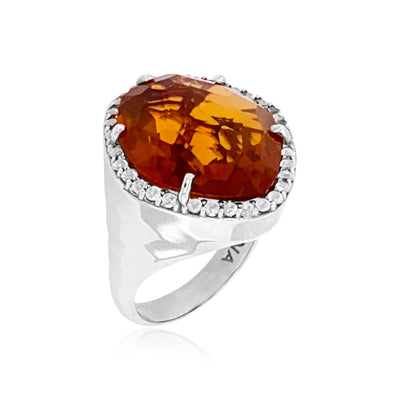 PANORAMA Ring - Whisky CItrine / SS