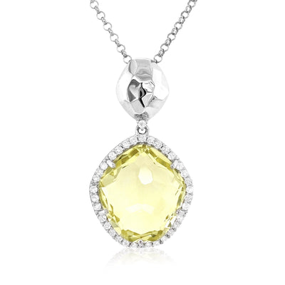 PANORAMA Necklace - Lemon Citrine / SS