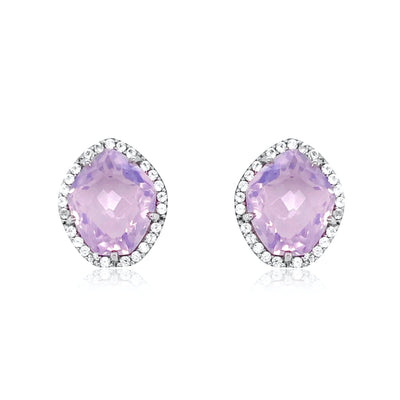 PANORAMA Earrings - Lilac Opal Amethyst / SS
