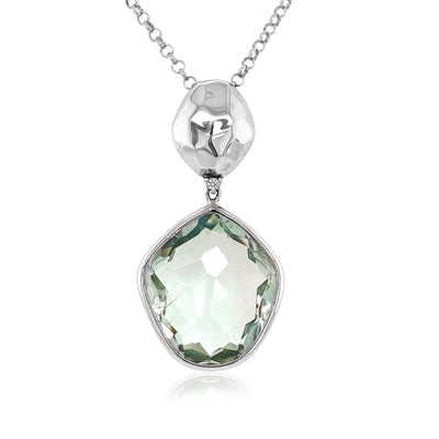 PANORAMA Necklace - Prasiolite / SS