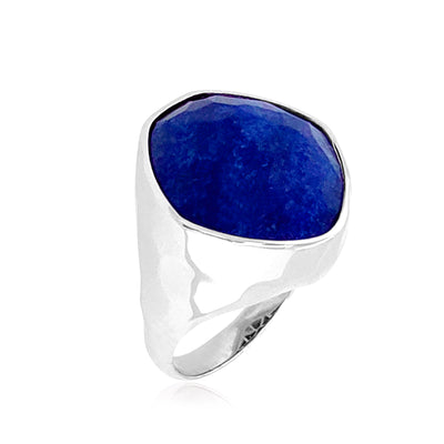 PANORAMA Ring - Navy Blue Quartz / SS