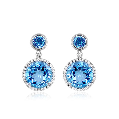 SIGNATURE Earrings - Blue Topaz / SS
