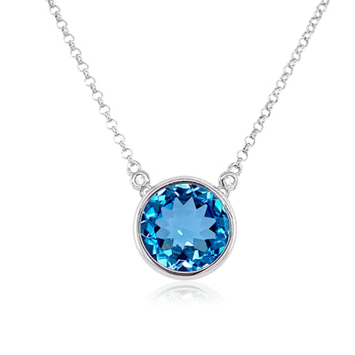 SIGNATURE Necklace - Blue Topaz / SS