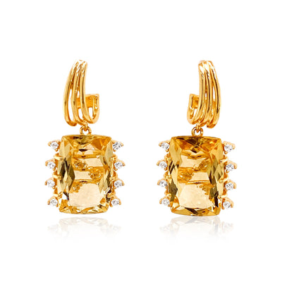 TRANSPARENZA Earrings - Light Citrine / YG
