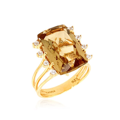 TRANSPARENZA Ring - Light Citrine / YG