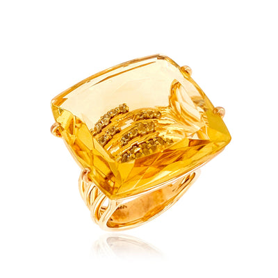 TRANSPARENZA Ring - Light Citrine / Yellow Gold