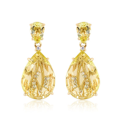 TRANSPARENZA Earrings - Lemon Citrine / YG