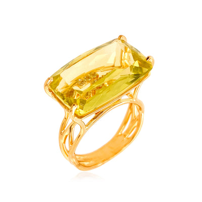 TRANSPARENZA Ring - Lemon Citrine / YG