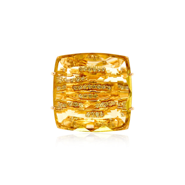 TRANSPARENZA Ring - Lemon Citrine / Yellow Gold