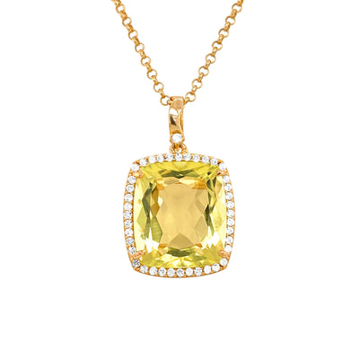 ECLECTIC Necklace - Lemon Citrine / YG