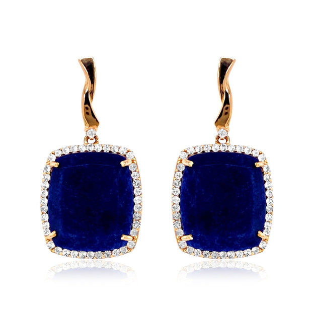 ECLECTIC Earrings - Navy Blue Quartz / YG