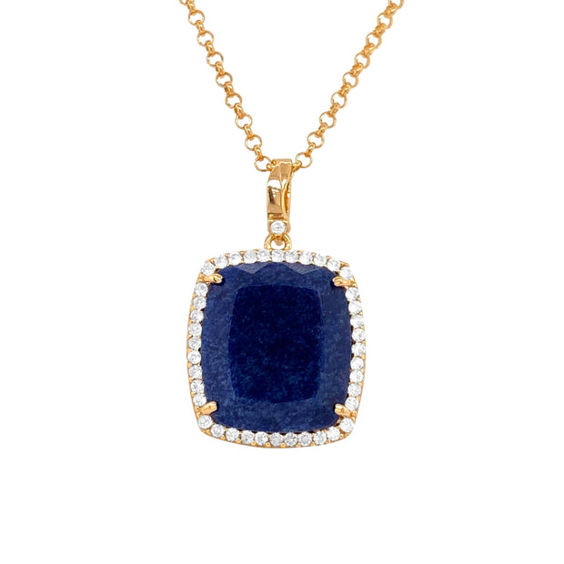 ECLECTIC Necklace - Navy Blue Quartz / YG