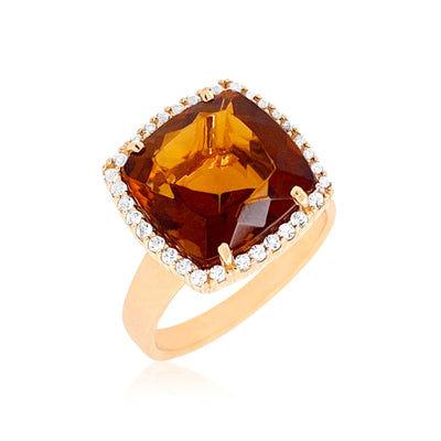 DEUX Ring (1145) - Whisky Citrine / YG