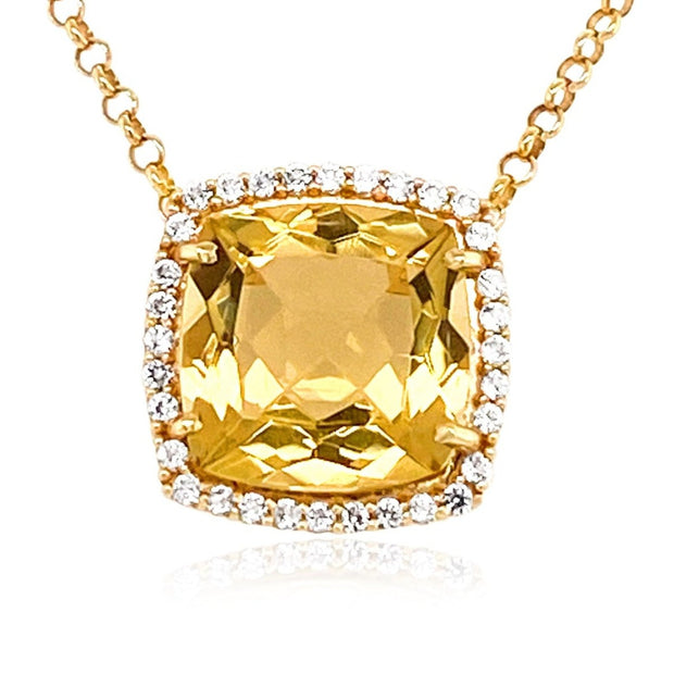 DEUX Necklace (1145) - Light Citrine /  YG