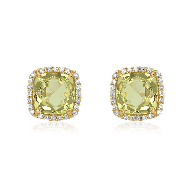DEUX Earrings (1145) - Lemon Citrine / YG