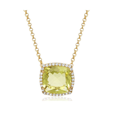 DEUX Necklace (1145) - Lemon Citrine /  YG