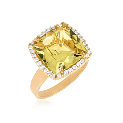 DEUX Ring (1145) - Lemon Citrine / YG
