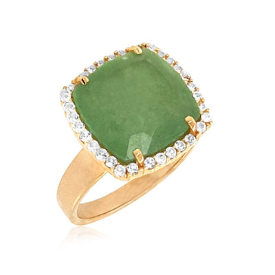 DEUX Ring (1145) - Green Quartz / YG