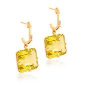 COLUNA Earrings - Lemon Citrine / YG