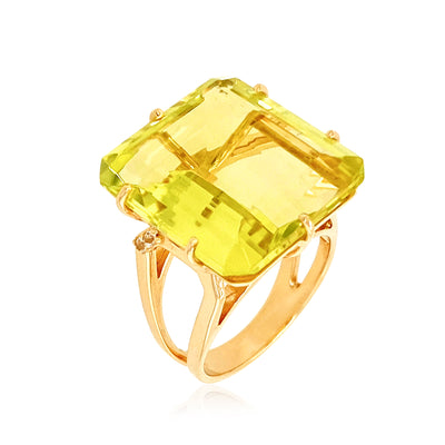 COLUNA Ring - Lemon Citrine / YG