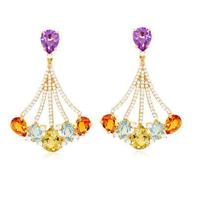 VILLA RICA Earrings - Mixed Gemstones / YG