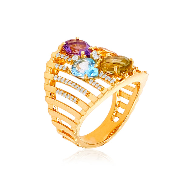 VILLA RICA Ring - Mixed Gemstones / YG