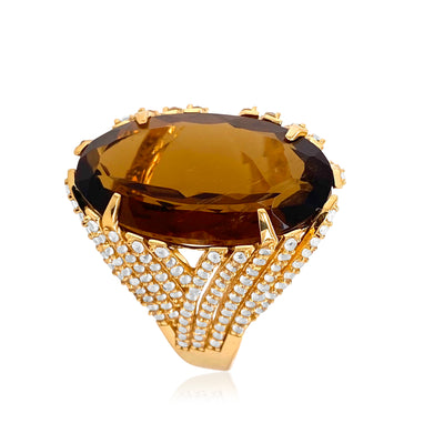 VILLA RICA Ring - Whisky Citrine / YG