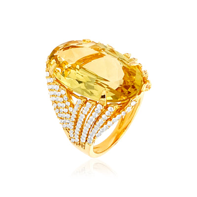 VILLA RICA Ring - Light Citrine / YG