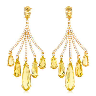 VILLA RICA Earrings - Lemon Citrine / YG