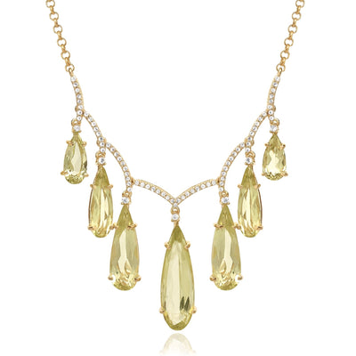 VILLA RICA Necklace - Lemon Citrine / YG