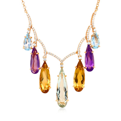 VILLA RICA Necklace - Mixed Gemstones  / YG