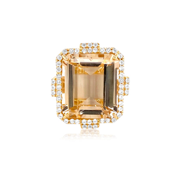 ECLECTIC Ring - Off-White Citrine / YG