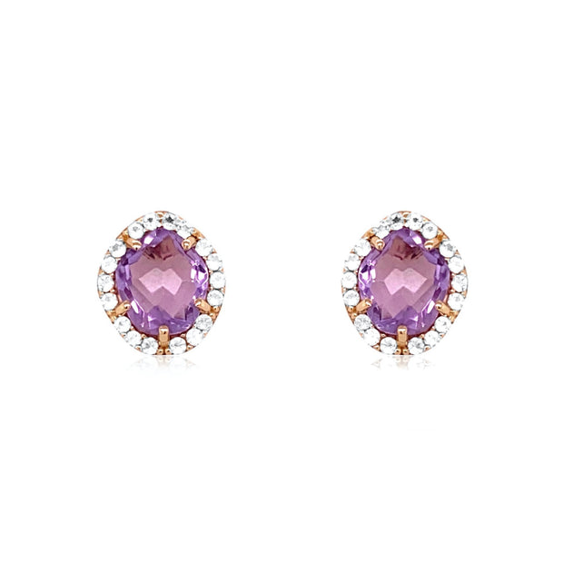 PANORAMA Earrings - Amethyst / YG