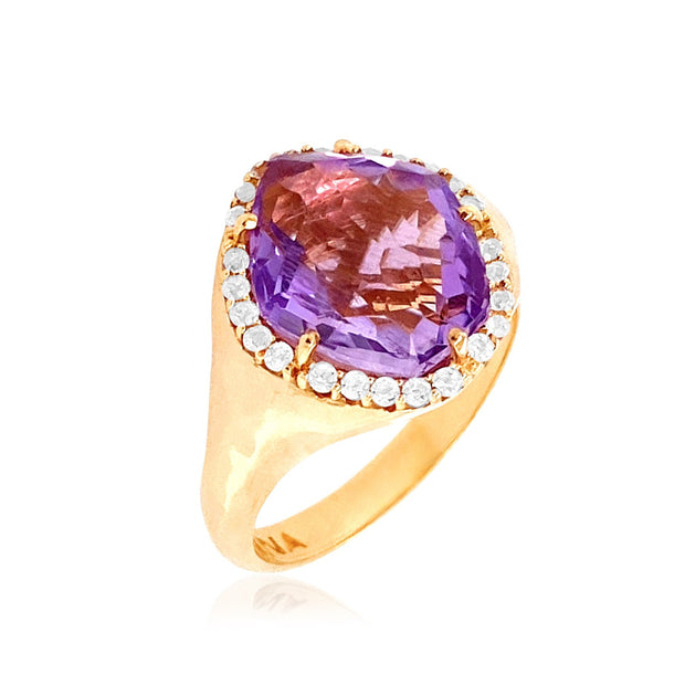 PANORAMA Ring - Amethyst  /  YG
