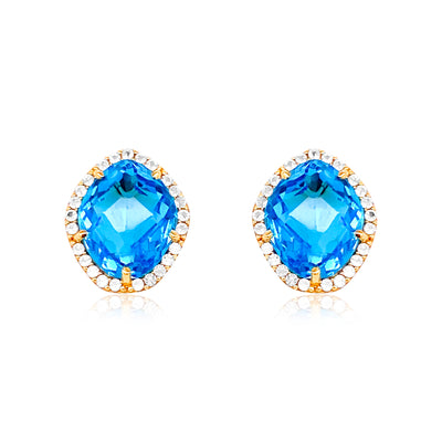 PANORAMA Earrings - Blue Topaz / YG