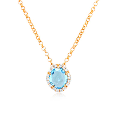 PANORAMA Necklace - Blue Topaz / YG