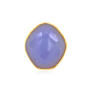 PANORAMA Ring - Blue Chalcedony / YG