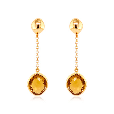 PANORAMA Earrings - Champagne Citrine / YG