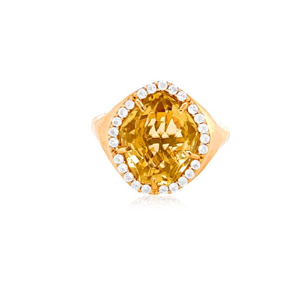 PANORAMA Ring - Champagne Citrine  /  YG