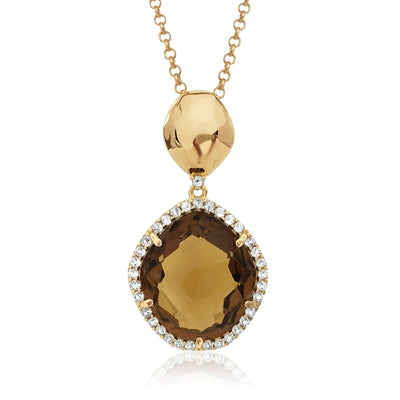 PANORAMA Necklace - Whisky Citrine /  YG