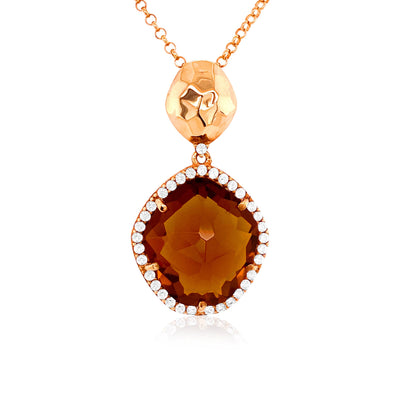 PANORAMA Necklace - Whisky Citrine / RG