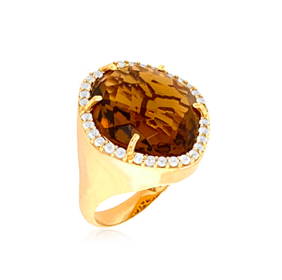 PANORAMA Ring - Whisky Citrine /  YG